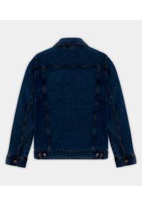 MegaKoszulki - Kurtka jeansowa damska - granatowa (bez nadruku). Kolor: niebieski. Materiał: jeans. Sezon: wiosna. Styl: klasyczny