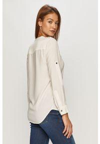 Biała koszula Calvin Klein ze stójką, na co dzień