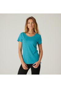 NYAMBA - Koszulka krótki rękaw fitness. Kolor: niebieski, wielokolorowy, turkusowy. Materiał: elastan, poliester, materiał, lyocell, bawełna. Długość rękawa: krótki rękaw. Długość: krótkie. Sport: fitness