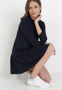Born2be - Granatowa Sukienka Prixiche. Kolor: niebieski. Sezon: lato, wiosna. Typ sukienki: sportowe. Styl: sportowy. Długość: mini