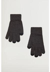 Szare rękawiczki Mango Man