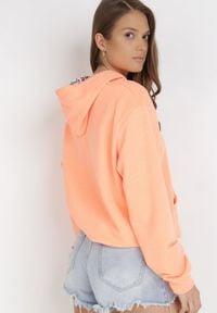 Born2be - Pomarańczowa Bluza Wraxirad. Typ kołnierza: kaptur. Kolor: pomarańczowy. Materiał: dzianina. Długość rękawa: długi rękaw. Długość: długie