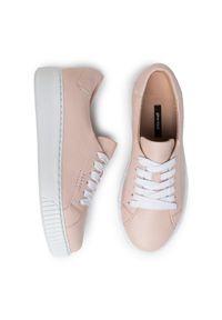 Różowe buty sportowe Gino Rossi