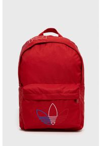 adidas Originals - Plecak. Kolor: czerwony. Materiał: materiał