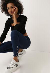 Born2be - Granatowe Jeansy Skinny Eozyne. Stan: podwyższony. Kolor: niebieski