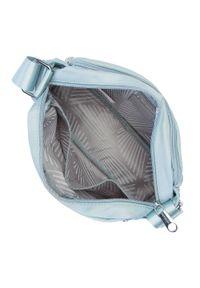 Wittchen - Damska torebka nylonowa. Kolor: niebieski. Rozmiar: średnie. Styl: elegancki, casual. Rodzaj torebki: na ramię