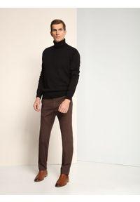 Brązowe spodnie TOP SECRET na jesień, długie, eleganckie