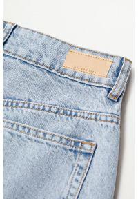 mango - Mango - Spódnica jeansowa Marion. Okazja: na co dzień. Kolor: niebieski. Materiał: jeans. Styl: casual