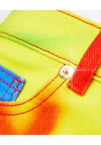 ALEXANDRE VAUTHIER - Jeansy Tie Dye. Stan: podwyższony. Kolor: czerwony. Wzór: kolorowy