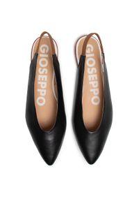 Czarne sandały Gioseppo na obcasie, casualowe