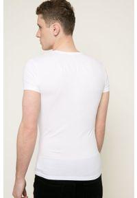 Emporio Armani Underwear - T-shirt. Kolor: biały. Materiał: dzianina, materiał. Wzór: gładki, nadruk