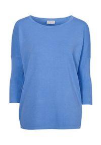 Freequent Pulower Jone niebieski female niebieski L (42). Kolor: niebieski. Materiał: prążkowany, dzianina