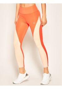 Pomarańczowe legginsy Calvin Klein Performance