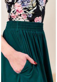 Marie Zélie - Spódnica Letycja butelkowa zieleń. Materiał: wiskoza, dzianina, materiał, elastan