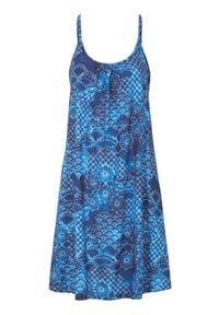 Cellbes Sukienka plażowa we wzory niebieski female ze wzorem/niebieski 42/44. Kolor: niebieski. Materiał: bawełna