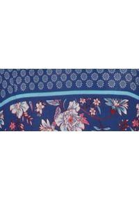 Niebieska sukienka TOP SECRET na jesień, z dekoltem w serek, elegancka, na ramiączkach