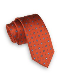 Krawat Angelo di Monti wizytowy, w geometryczne wzory