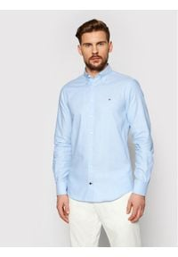 Tommy Hilfiger Tailored Koszula Oxford MW0MW16485 Niebieski Slim Fit. Kolor: niebieski