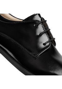 Czarne buty komunijne Bartek z cholewką