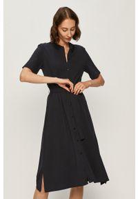 Niebieska sukienka Marc O'Polo midi, na co dzień, prosta, z krótkim rękawem