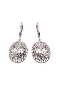 Polcarat Design - Kolczyki srebrne z cyrkoniami K 1519. Materiał: srebrne. Kolor: srebrny. Kamień szlachetny: cyrkonia