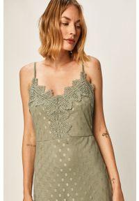 Zielona sukienka Vila na co dzień, na ramiączkach, mini, casualowa #5