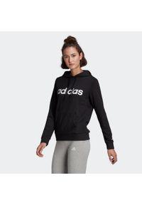Adidas - Bluza z kapturem Gym & Pilates Linear damska. Typ kołnierza: kaptur. Materiał: bawełna, wiskoza, poliester. Sport: joga i pilates