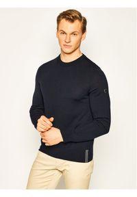 EA7 Emporio Armani Sweter 8NPMZ8 PM62Z 1578 Granatowy Regular Fit. Kolor: niebieski
