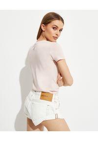 MOA Concept - MOA CONCEPT - Różowa koszulka z królikiem Bugsem. Okazja: na co dzień. Kolor: różowy, wielokolorowy, fioletowy. Materiał: bawełna. Wzór: napisy, nadruk. Styl: klasyczny, casual