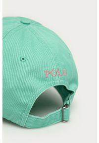 Zielona czapka z daszkiem Polo Ralph Lauren gładkie