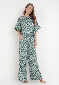 Zielone spodnie materiałowe Born2be