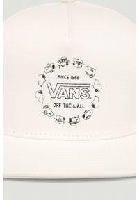 Biała czapka z daszkiem Vans z nadrukiem