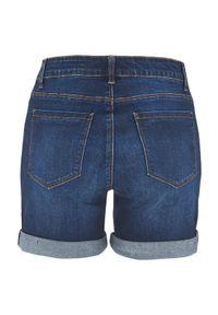 Cellbes Szorty dżinsowe ciemnoniebieski denim female niebieski 60. Kolor: niebieski. Materiał: denim. Styl: elegancki