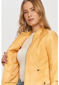 Żółta kurtka Vero Moda na co dzień, bez kaptura