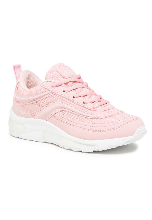 Kappa - Sneakersy KAPPA - Squince 242842 Rose/White 2110. Okazja: na spacer, na co dzień. Kolor: różowy. Materiał: materiał. Szerokość cholewki: normalna. Sezon: lato. Styl: casual
