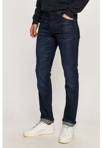 Niebieskie jeansy Wrangler na co dzień, casualowe