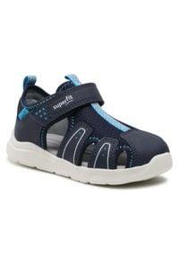 Superfit - Sandały SUPERFIT - 1-000478-8000 S Blau/Blau. Kolor: niebieski. Materiał: materiał, skóra