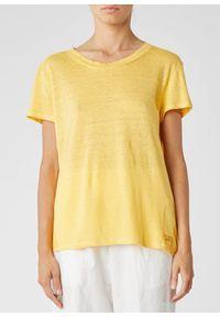 Żółty t-shirt krótki, z krótkim rękawem