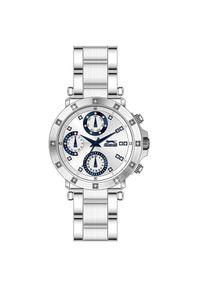 Srebrny zegarek Slazenger elegancki