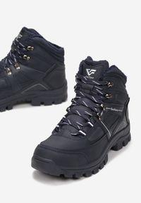 Niebieskie buty trekkingowe Born2be