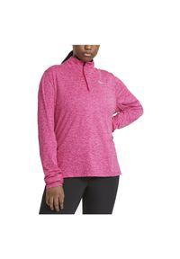 Koszulka damska do biegania Nike Element CU3220. Typ kołnierza: kołnierzyk stójkowy. Materiał: materiał, poliester. Długość rękawa: długi rękaw. Technologia: Dri-Fit (Nike). Długość: długie. Sport: bieganie