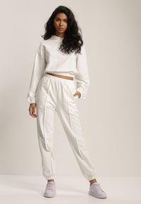 Renee - Biały Komplet Dresowy Dwuczęściowy Iphoche. Kolor: biały. Materiał: dresówka