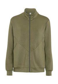 Soyaconcept Wyjątkowo miękka bluza dresowa Banu khaki female zielony S (38). Typ kołnierza: kołnierzyk stójkowy. Kolor: zielony. Materiał: dresówka
