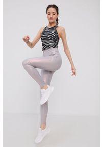 Adidas by Stella McCartney - adidas by Stella McCartney - Legginsy. Kolor: szary. Materiał: dzianina, materiał. Wzór: gładki