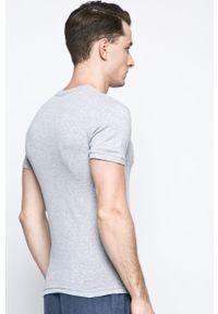 Henderson - T-shirt piżamowy. Kolor: szary. Materiał: dzianina. Wzór: gładki