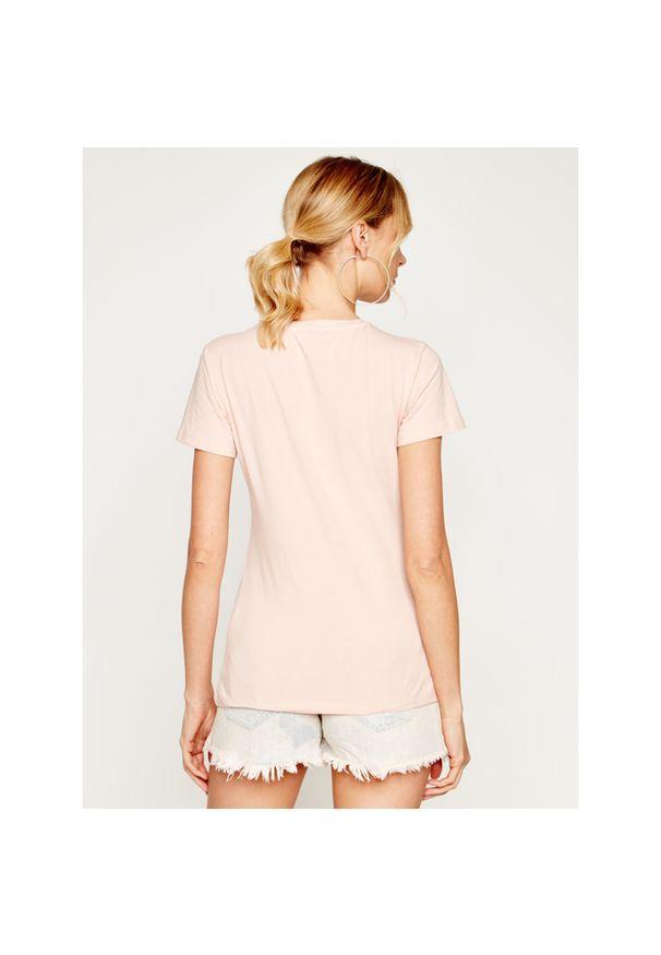 Różowy t-shirt Trussardi Jeans