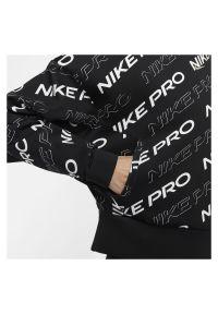 Bluza damska Nike Pro CJ3588. Materiał: materiał. Technologia: Dri-Fit (Nike). Wzór: nadruk. Sport: fitness #6