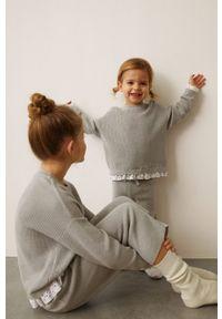 Szary sweter Mango Kids gładki
