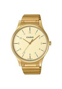 Złoty zegarek Casio elegancki