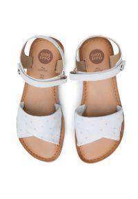 Gioseppo - Sandały GIOSEPPO - 58902 White. Zapięcie: pasek. Kolor: biały. Materiał: skóra. Wzór: paski. Sezon: lato. Styl: wakacyjny, młodzieżowy
